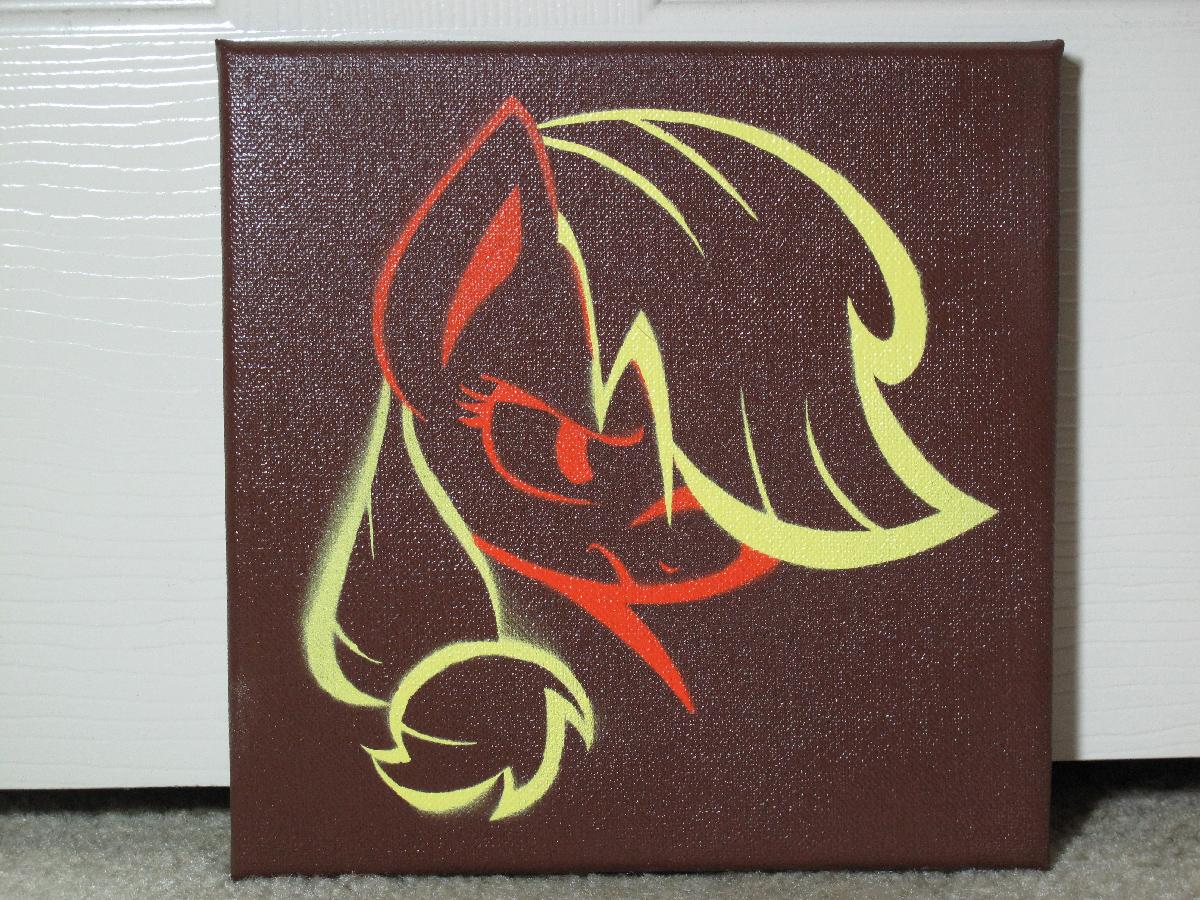 Applejack Stencil Painting by brycehebert