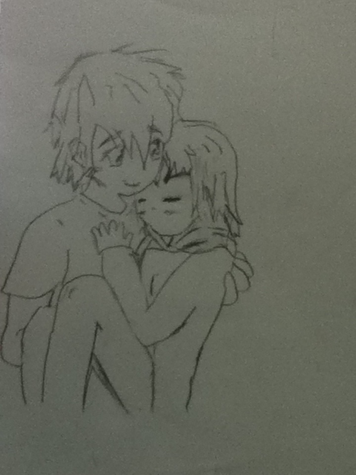 Anime girl sleeping in guys arms by eyannaandkianalovesu