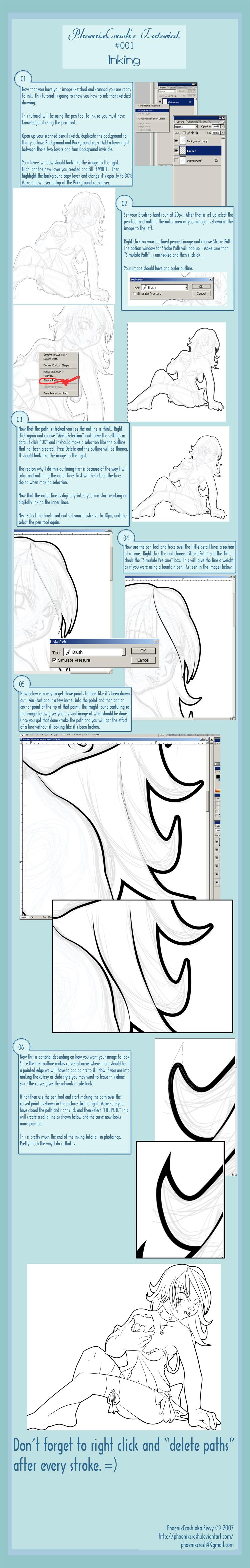 My Tutorial 002 - Digital Ink by phoenixcrash
