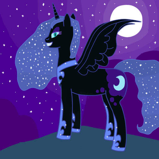 nightmare_moon_is_free_by_jaro142-d6zs4c