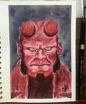 Hellboy Watercolor