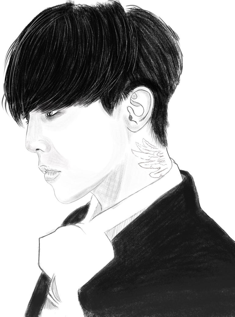G-Dragon sketch practice  by dappead89