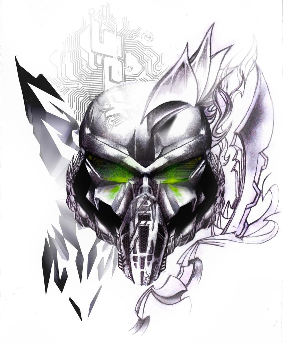 Cyber PUNISHER SKULL TATTOO by NeoGzus on DeviantArt