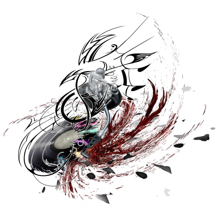DJ tattoo BLOODY MESS by NeoGzus on DeviantArt