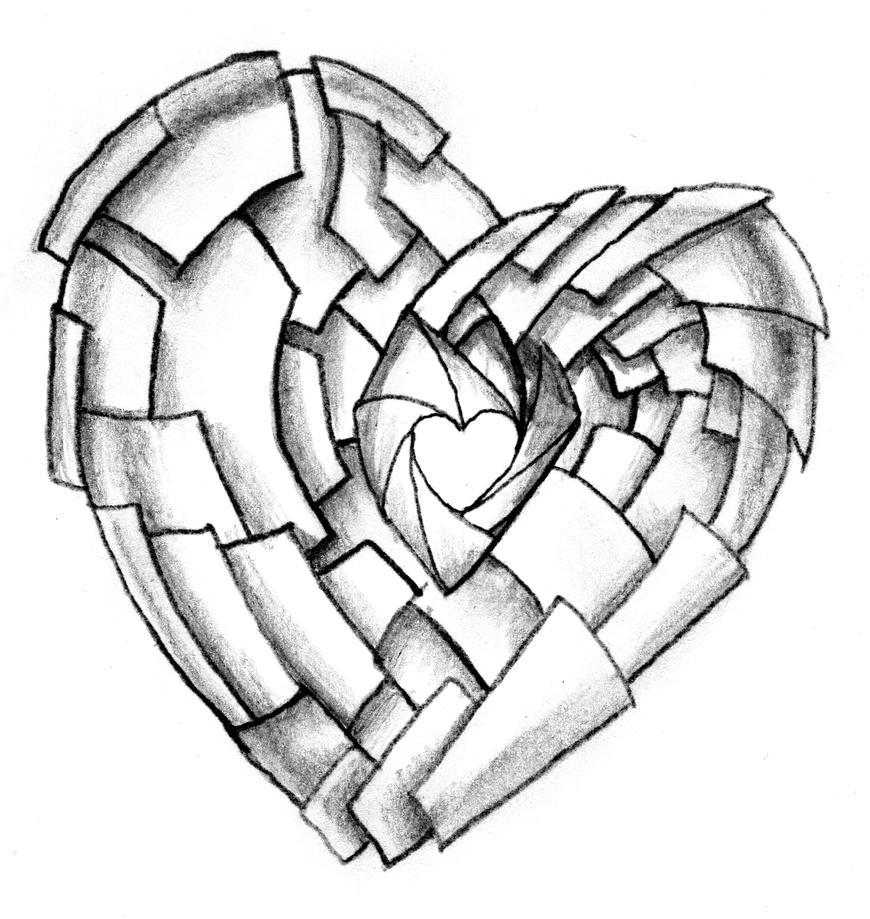 Love Heart Tattoo Drawings