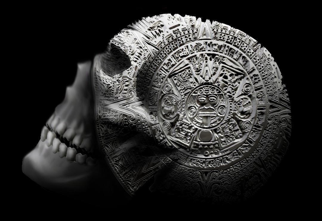Aztec Skull By NeoGzus