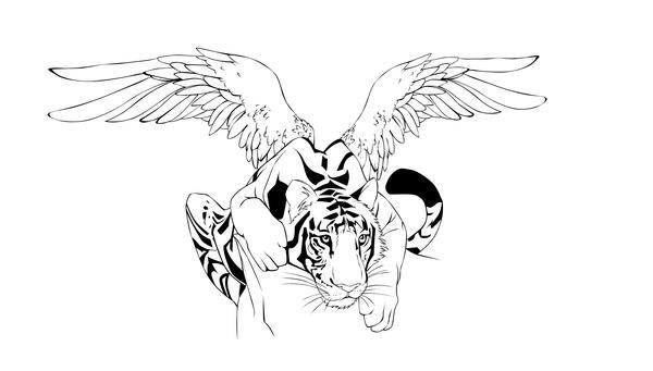 Fang Tiger tatto by Petlefeu