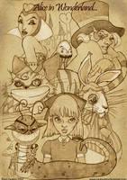 Alice in Wonderland by chicourano