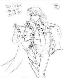 howl and sophie by ViCkeRzHeRe