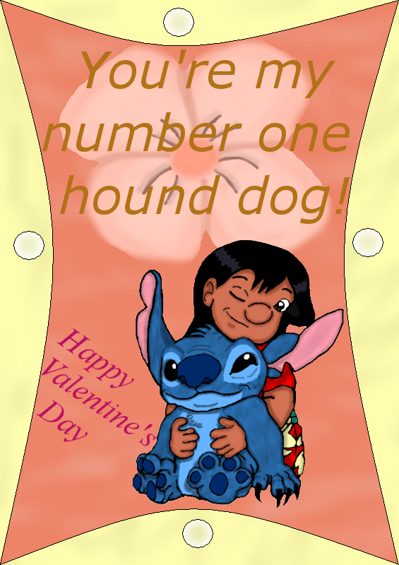 Lilo and Stitch V-Day Card by Inuranchan