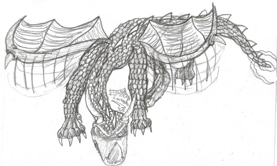 Art Exchange-Dragon Sketch 2 by Inuranchan
