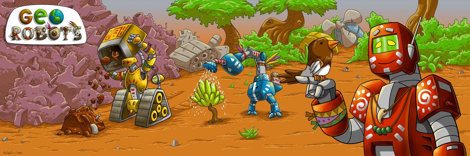 Geo Robots Imagen 4 by KARLOJULIO
