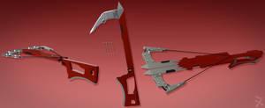 Eric Marma's Hook Swords/Crossbow (RWBY OC weapon)