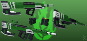 Green Rage (RWBY OC weapon)