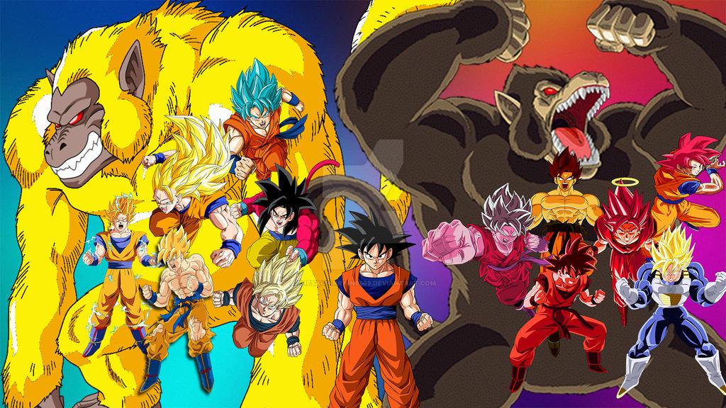 Las Mejores Fotos De Goku En Todas Las Fases Completamente: Todas Las Transformaciones De Goku By TheSaiyanRain6569 On