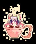 Cocoa bath icon pixel by kumakiadopts