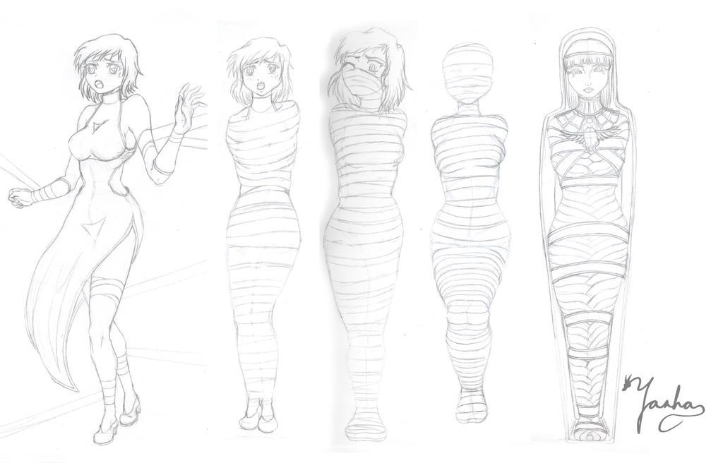 Mummy Curse Sketch by Yashasun