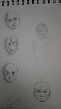 Sketch Death mask