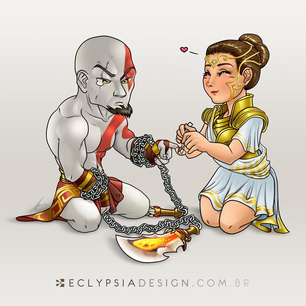 Kratos e Athena by Izabela-Wilson