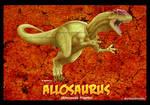 Allosaurus card by Silver-Ray
