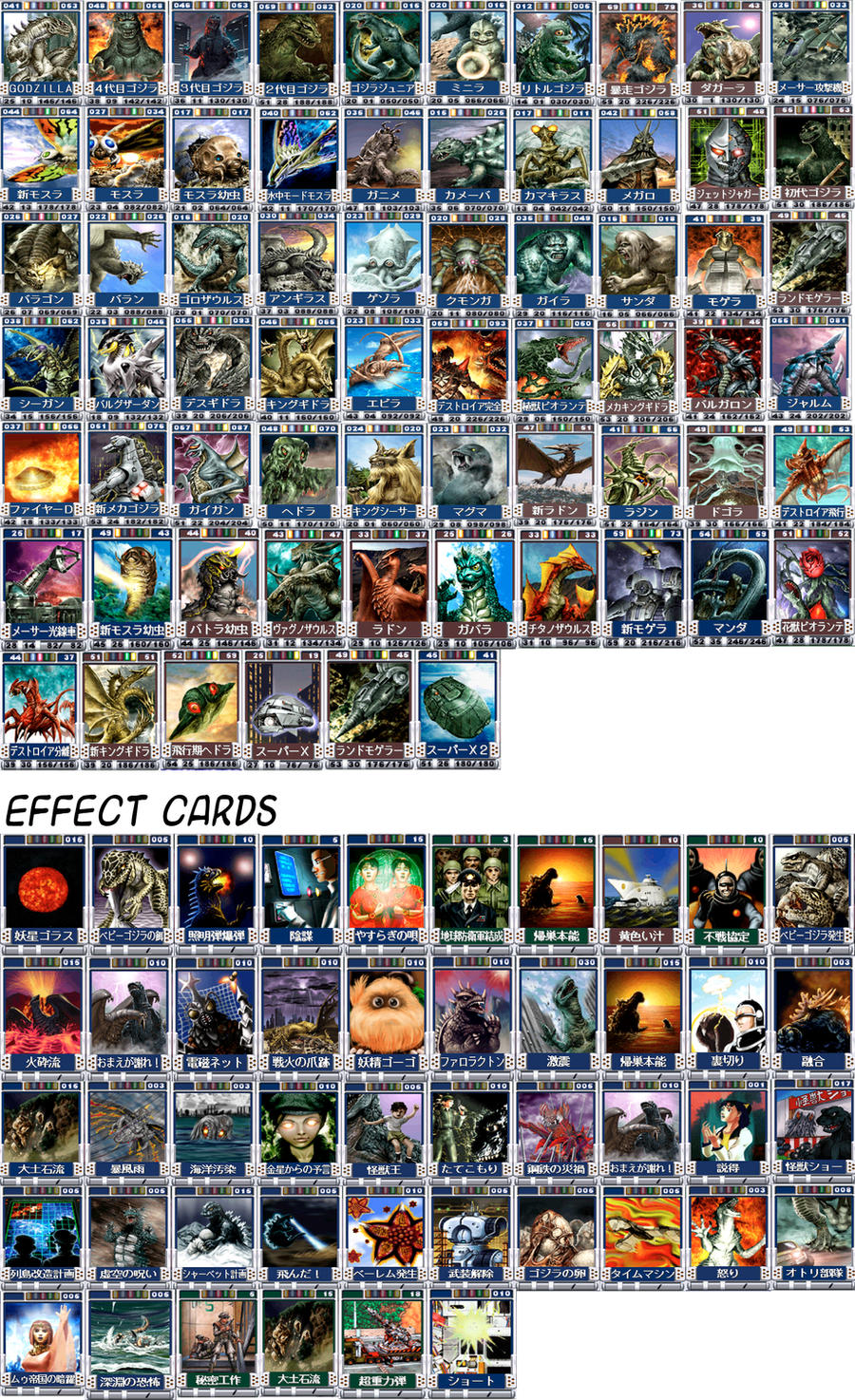 Godzilla trading battle cards1 by Silver-Ray