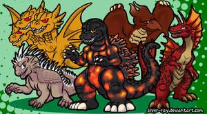 Godzilla M2011 batch by Silver-Ray