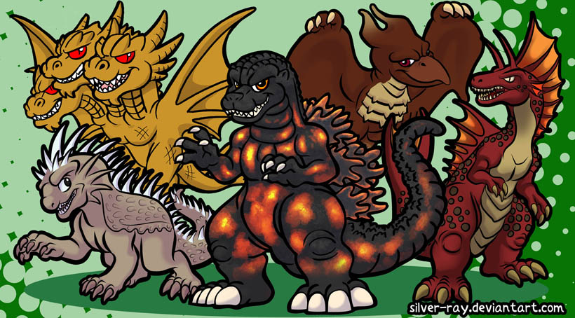 Godzilla M2011 batch by Silver-Ray