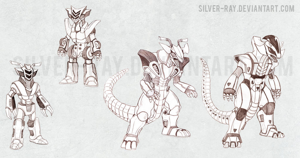 Motorcycle inspired kaiju by Silver-Ray