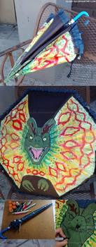Dilophosaurus Umbrella by Silver-Ray