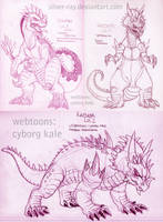 OC kaiju sketch dump May-18 Kazdarr 1-2 and Gouran by Silver-Ray
