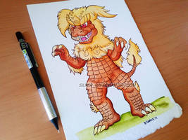 SD King Seesar Watercolor by Silver-Ray