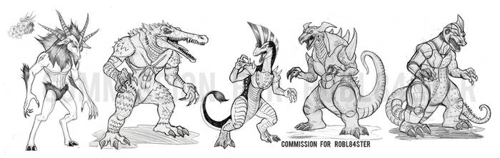 OC Kaiju Commissions by Silver-Ray