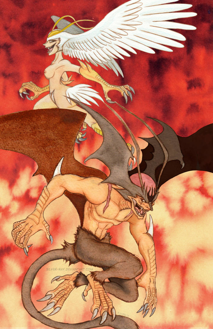 Devilman and Sirene Doujin piece by Silver-Ray