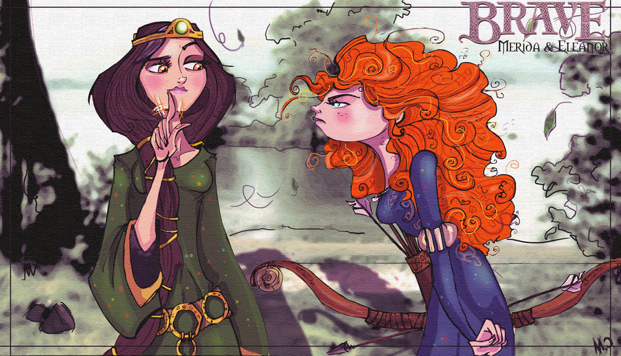 BRAVE Merida and Eleanor by STACH2606