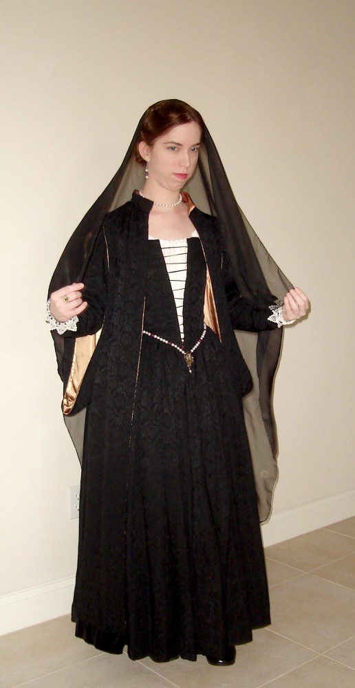 Black Venetian Gown New photo5 by CenturiesSewing