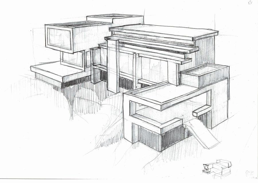 Artist home sketch by existtraiesc on deviantart - Architektur zeichnen ...
