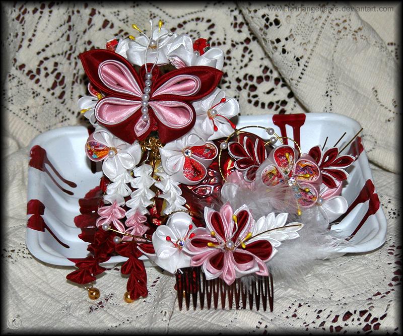 Ai Cho Kanzashi by fallnangeltears