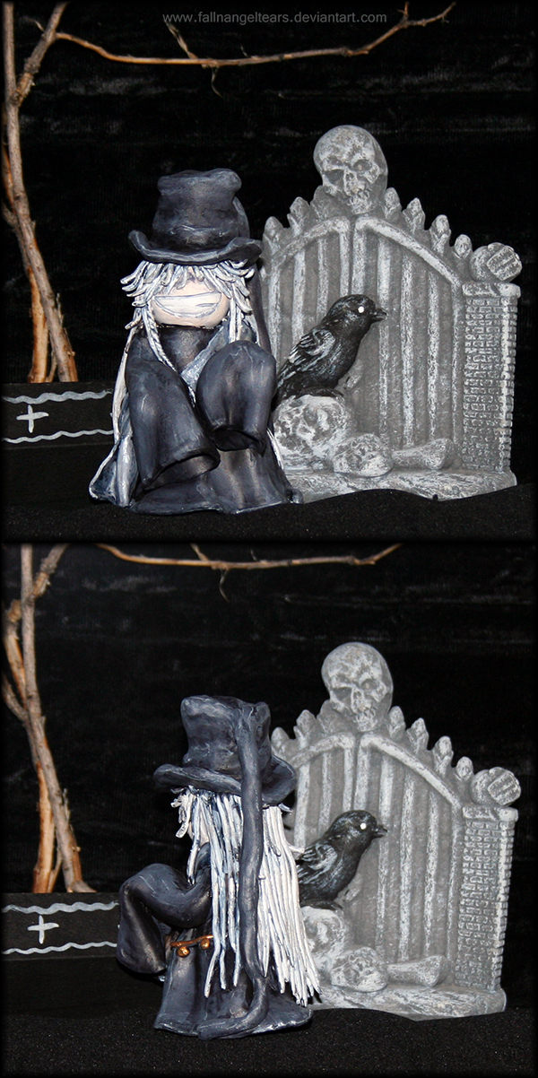Chibi Undertaker Sculpture By Fallnangeltears