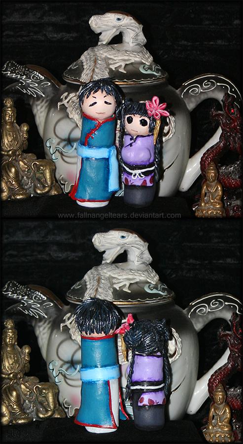 Chibi Lau and RanMao by fallnangeltears