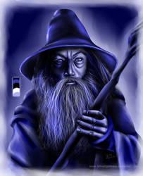 Gandalf in Blue by fallnangeltears