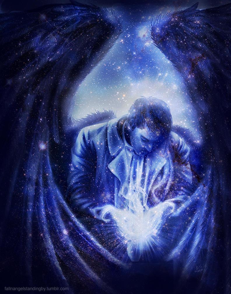 Angel in Blue by fallnangeltears
