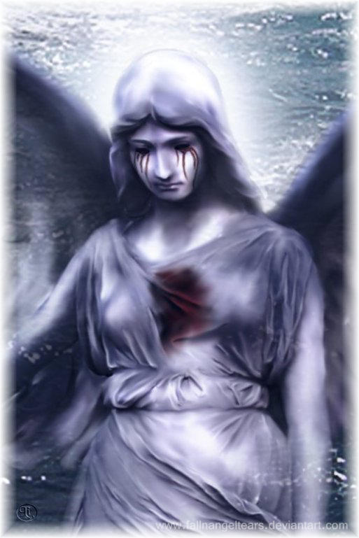 Suffering Angel by fallnangeltears