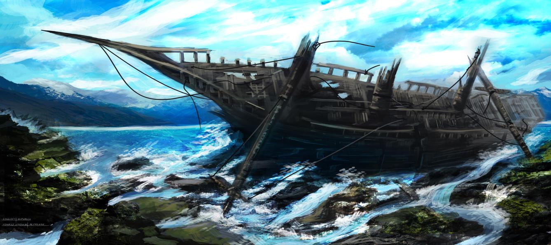 Shipwreck by Virandile