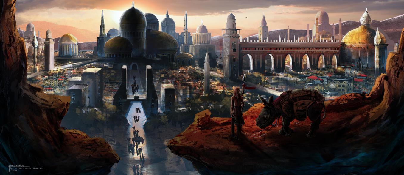 City in the Desert by Virandile