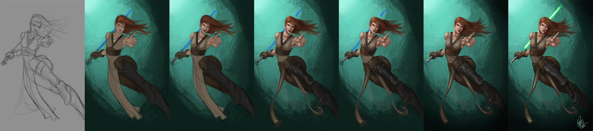 Female Jedi Step by Step by Peter-Ortiz