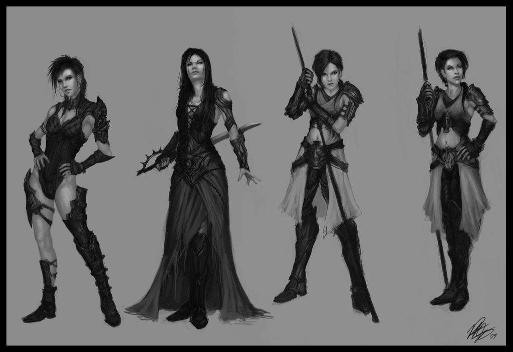 Character Design Concept : Female character designs by peter ortiz on deviantart