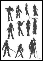 Silhouettes v1 by Peter-Ortiz