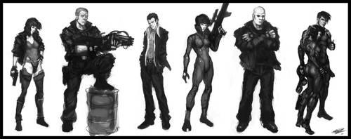 GITS character studies v1 by Peter-Ortiz