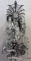 Dead girls tattoo design 2