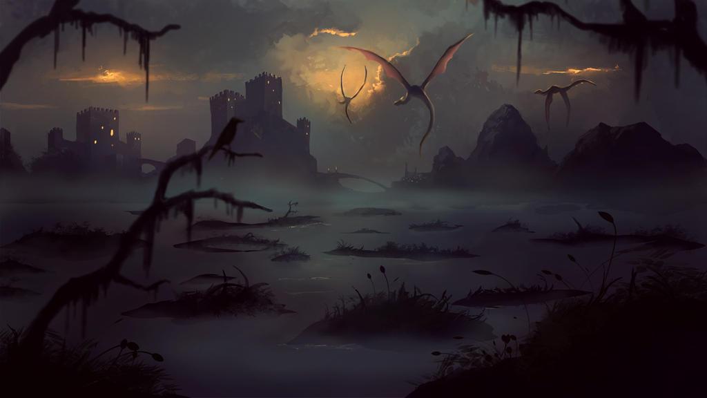 Swamp Painting by Peter-Ortiz